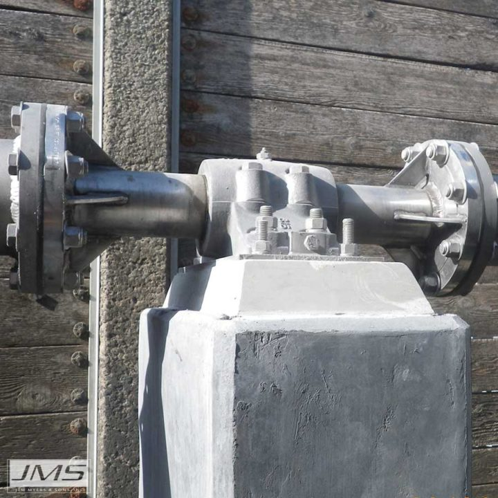 JMS Mega-FLOC (Horizontal Paddle Wheel Flocculator) shafting connections