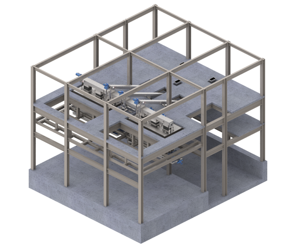 JMS Bio-HANDLING (Material Handling Systems) Truck Load-out Station